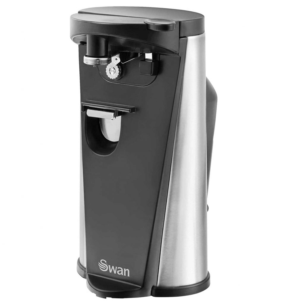 . Swan SP20110N 3-in-1 Hands-Free Can Tin, 60 W, Black